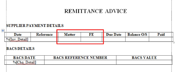 2813 General Release Documentation – Remittance Advice Template